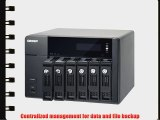 QNAP TS-670 PRO 6-Bay iSCSI NAS SATA 6G 2LAN 10GbE-ready LCD HDMI local display