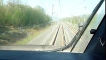 En Cabine d'un TGV POS sur Strasbourg-Paris