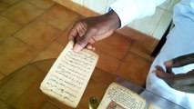 Discussion and Displaying of ancient Fouta Jallon Manuscripts by Elijah Shabazz (Ilyas Shabazz Bah)