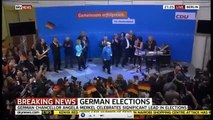 German Chancellor Angela Merkel Wins Election Celebration Of Election Results