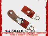 Fortech Grizzly USB Flash Drive 16GB USB Drive 3 0 Genuine Leather USB Drive 3 0 Pen Drive
