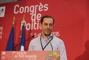 Congres du Parti socialiste : point presse de Carlos Da Silva le 5 juin