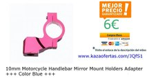 10mm Motorcycle Handlebar Mirror Mount Holders Adapter +++ Color Red +++