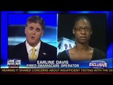 Sean Hannity Interviews Earline Davis on His Television Program   Obamacare Hotline Woman Fired