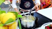 Choumicha : Tarte à la crème au citron et aux fraises (VF)