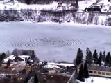 'Crop' circles appearing on ice - Arna, Norway, the 6.th of March 2010