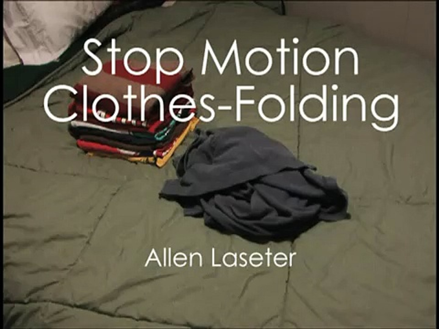 Stop Motion Clothes-Folding
