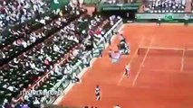 French Open  Plane shadow flying BACKWARDS caught on camera