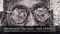N'exécutez pas Troy Davis - Manifestation Paris 15 septembre 2011