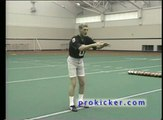 How to Punt a football #2 - Ray Guy Teaches Body Position when Punting a Football