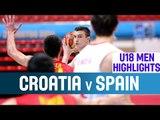 Croatia v Spain - Highlights - Quarter-Finals - 2014 U18 European Championship