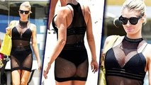 Chloe Sims Flaunts Her BOOBS - ASS in Fishnet Mini Dress - The Hollywood