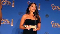 Gina Rodriguez ('Jane the Virgin') backstage at Golden Globes
