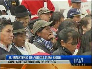 Ministerio de agricultura sigue con la redistribución de predios