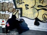 How to do a Throwie - graffiti black book scetch out lines canvas GRAFFITI GRAFF