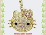 Newdigi? 64GB Hello Kitty Crystal Jewelry USB Flash Memory Drive Necklace