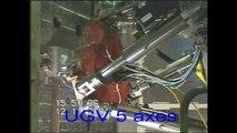 Hexapode : UGV 5 axes, usinage d'un visage