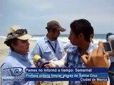 Nuestravision Noticias - Pemex no informó a tiempo: Semarnat. Profepa ordena limpiar playas