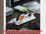 Sentey Aluminium 10 Ports USB 3.0 Hub with 3 Charging Ports 1x2.1a 2x1.0a 7-port Usb Hub 3.0