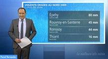Violents orages et chutes de grêle dans le Nord vendredi