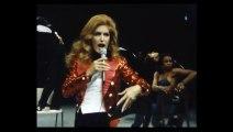 Dalida durant les répétitions pour le palais des sports 1980