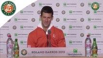 Conférence de presse de Novak Djokovic Roland-Garros 2015 / Demi-finales