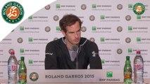 Conférence de presse Andy Murray Roland-Garros 2015 / Demi-finales