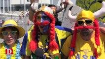 Bonne ambiance au stade de Bordeaux entre les supporters toulousains et clermontois