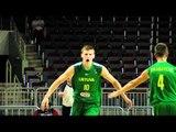 FIBAU19 - Arnas Butkevicius dunk ; Lithuania v Poland