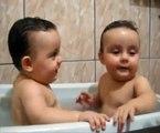 Twins Brothers Enjoying Bath Time || Funny Kids