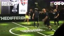 Zinedine et Enzo Zidane défient des champion du foot freestyle