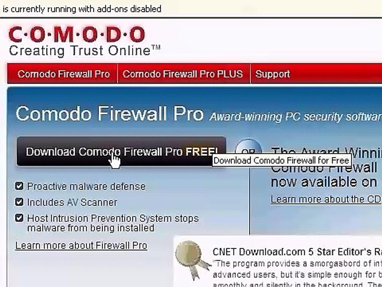 Comodo Firewall Pro Tutorial Step by Step Configuration