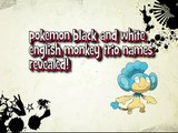 Pokemon Black and White English monkey trio names
