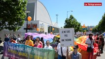 Rennes. La marche des fiertés contre les discriminations.