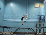 Trampolining -Half twist to seat landing Demo from Trampoline Central