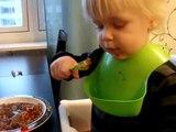 Barnen äter