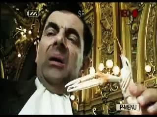 Mr.Bean eats live shrimp