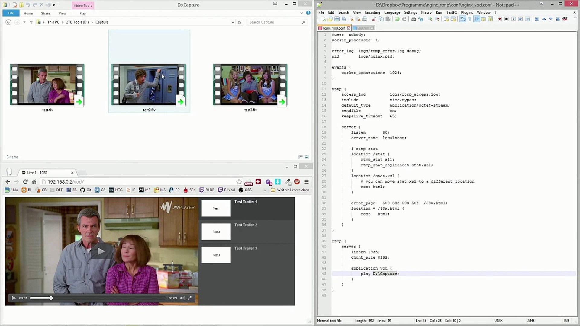 Nginx-RTMP - Setup a simple Video on Demand Server
