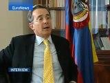Álvaro Uribe Vélez - entrevista - EuroNews