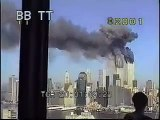 911 second Plane hits second WTC tower - with sound - archival stock footage