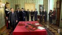 Giuramento del Ministro dell'Economia e delle Finanze, Pier Carlo Padoan