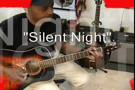 Silent Night How To Play On Guitar Chord Melody with 3 Chords EricBlackmonMusic Christmas