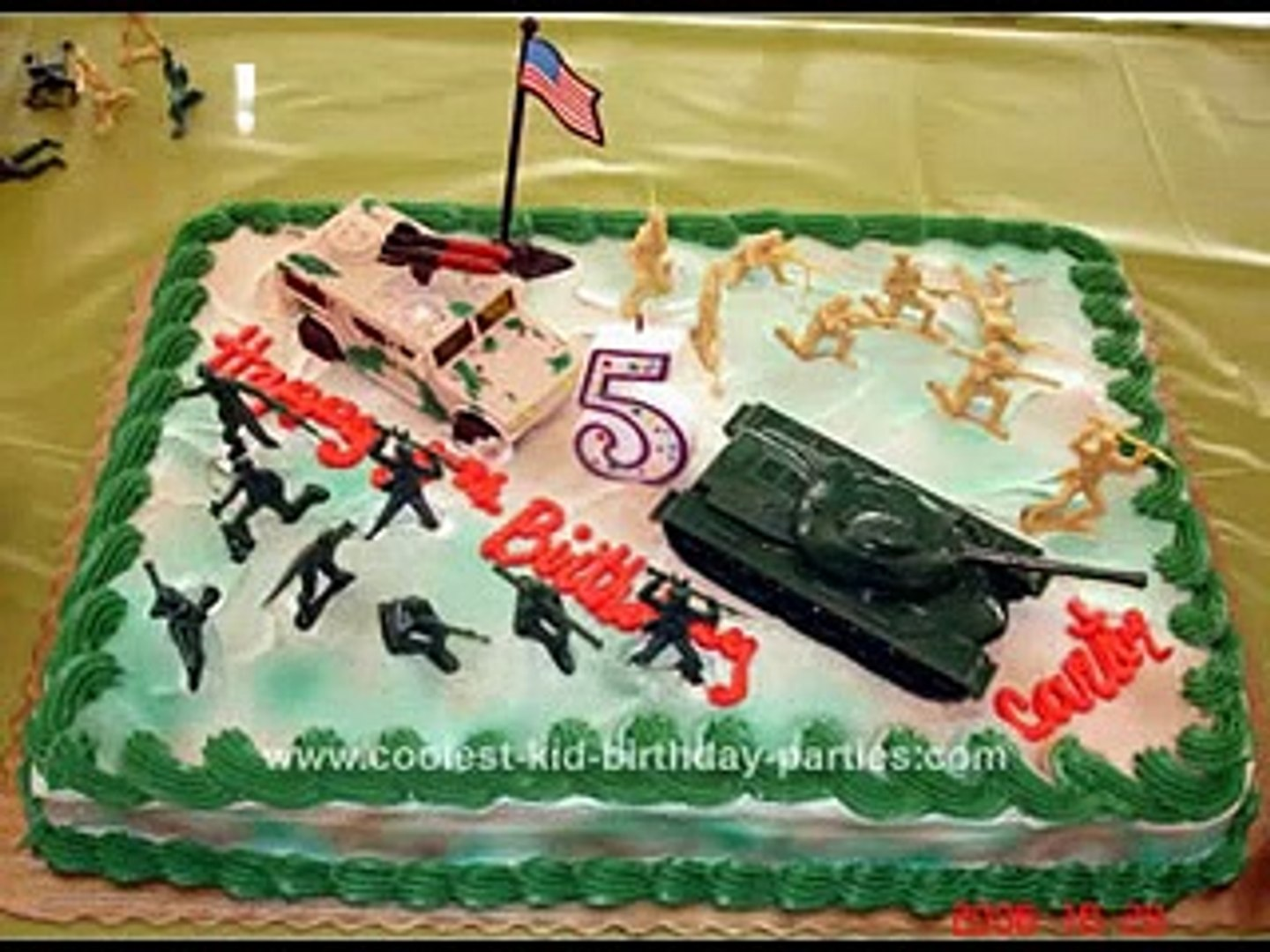 Groovy Creative Army Cake Design Decorating Ideas Video Dailymotion Personalised Birthday Cards Arneslily Jamesorg