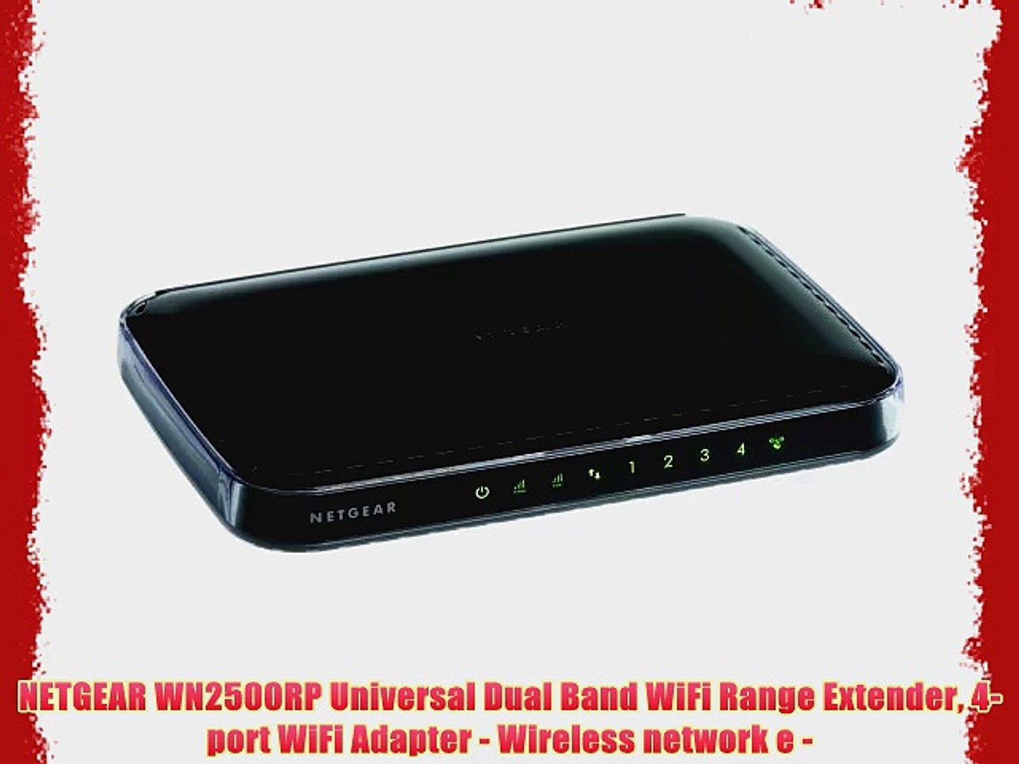 NETGEAR WN2500RP Universal Dual Band WiFi Range Extender 4-port WiFi  Adapter - Wireless network