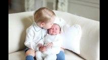 Les premières photos de la princesse Charlotte avec son frère George