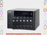 QNAP TS-670 PRO 6-Bay iSCSI NAS SATA 6G 2LAN 10GbE-ready LCD HDMI local display