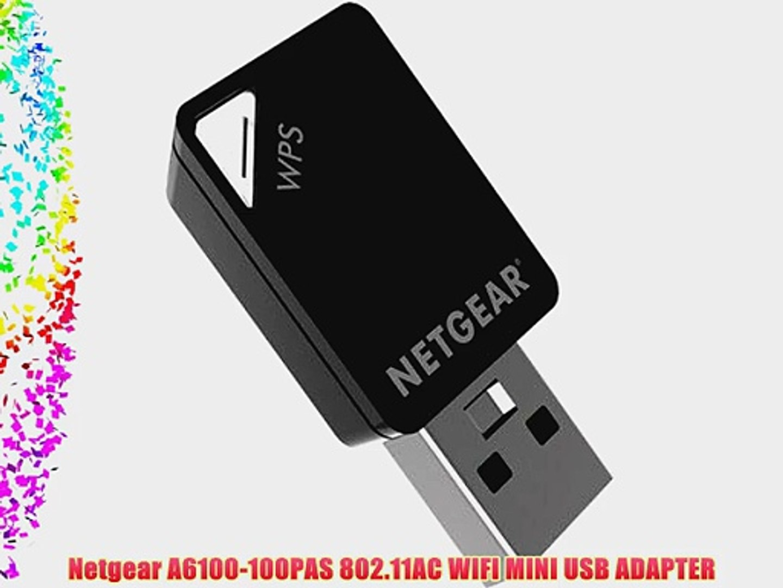Netgear A6100-100PAS 802 11AC WIFI MINI USB ADAPTER