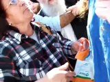 How Christians are treated by zionist jews in israel, abused and insulted.