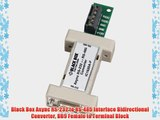 Black Box Async RS-232 to RS-485 Interface Bidirectional Converter DB9 Female to Terminal Block