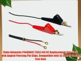 Fluke Networks P4480001 TS52/44/42 Replacement Line Cord with Angled Piercing Pin Clips Compatible